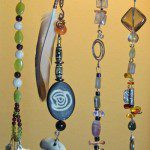 Examples of semi-precious stones used and designs created in Beaded Creations class.