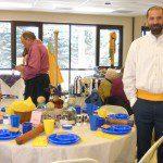 "John Van Hoek from Chelsea Monitors Baseball Club at his ""History of Baseball"" table"