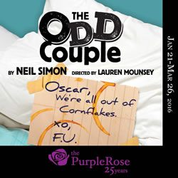 Purple Rose Theatre Company presents The Odd Couple by Neil Simon